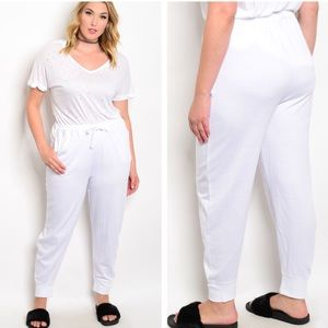 Pants - Just In🌸2X🌸WHITE SWEATPANTS